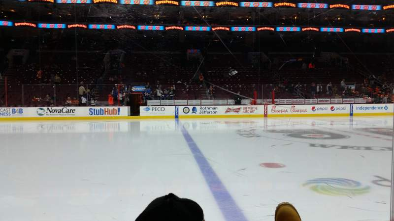 Seating view for Wells Fargo Center Section 112 Row 2 Seat 12