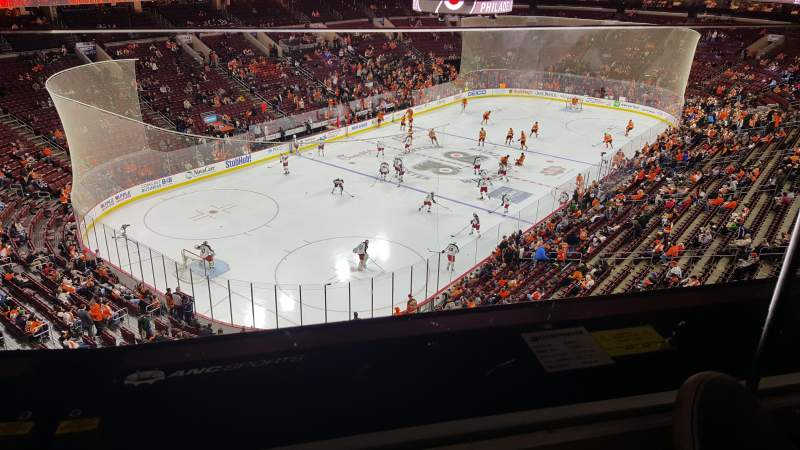 Seating view for Wells Fargo Center Section 209a Row 1 Seat 9
