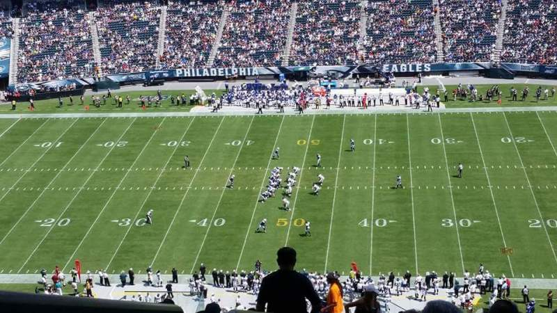 Seating view for Lincoln Financial Field Section 202 Row 26 Seat 25