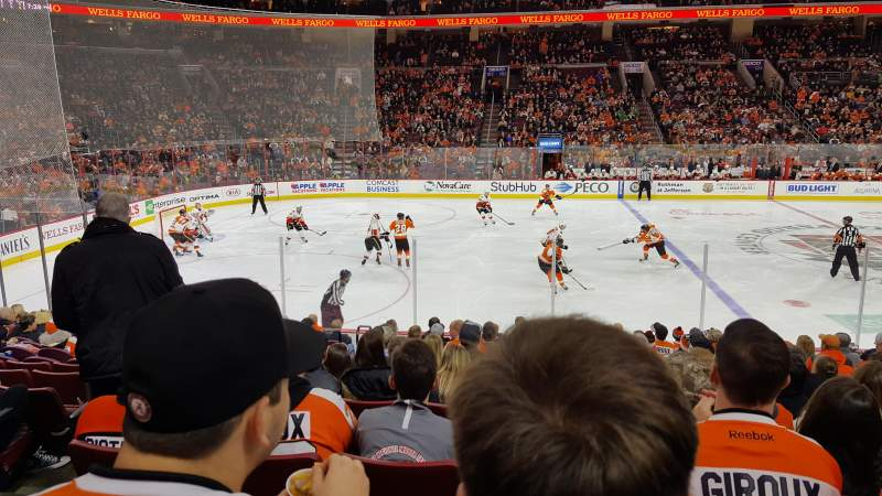 Seating view for Wells Fargo Center  Section 112 Row 14 Seat 4