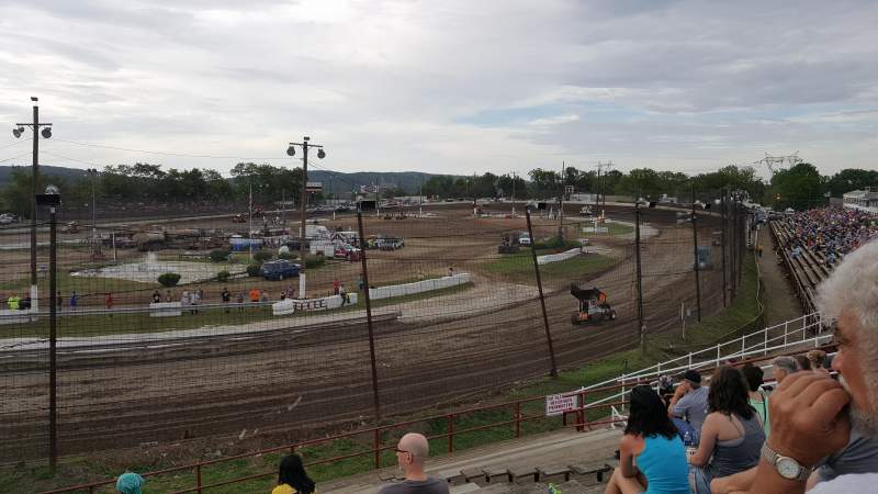Seating view for Grandview Speedway Section Turn 4