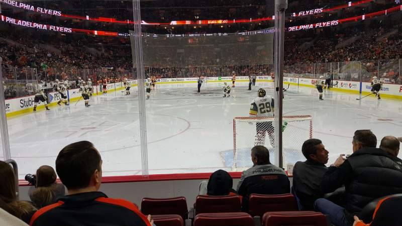 Seating view for Wells Fargo Center Section 107 Row 5 Seat 3