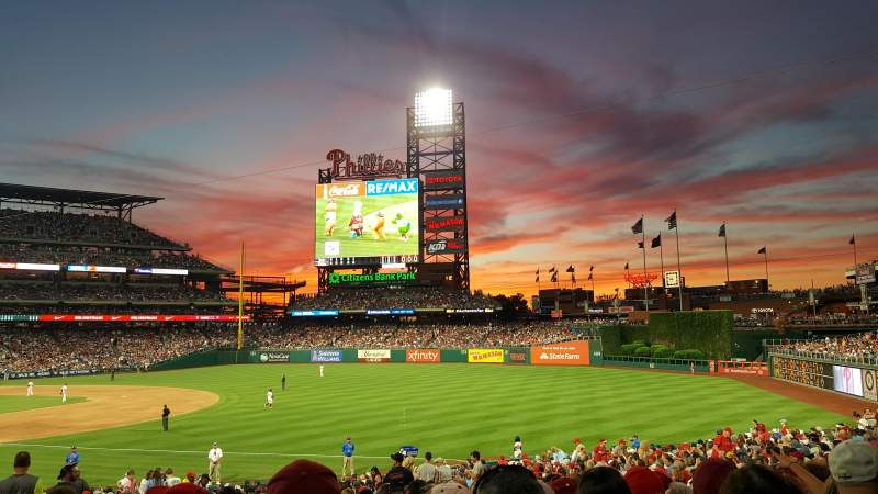 Seating view for Citizens Bank Park Section 111 Row 33 Seat 14