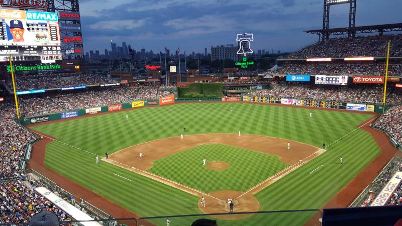 Seating view for Citizens Bank Park Section 321 Row 3 Seat 11