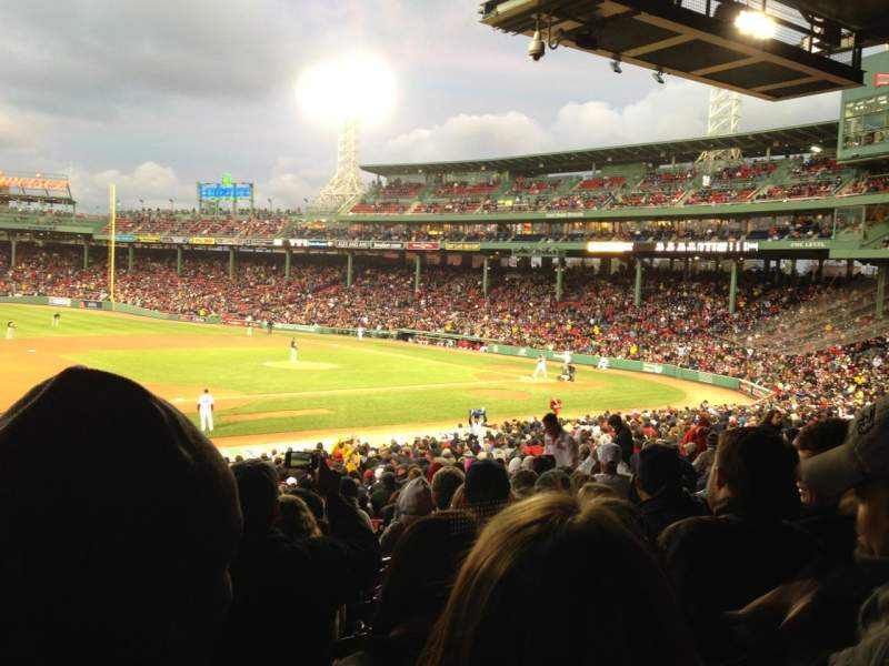 Seating view for Fenway Park Section Grandstand 27 Row 6 Seat 25