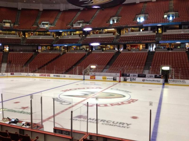 Seating view for Honda Center Section 221 Row K Seat 8