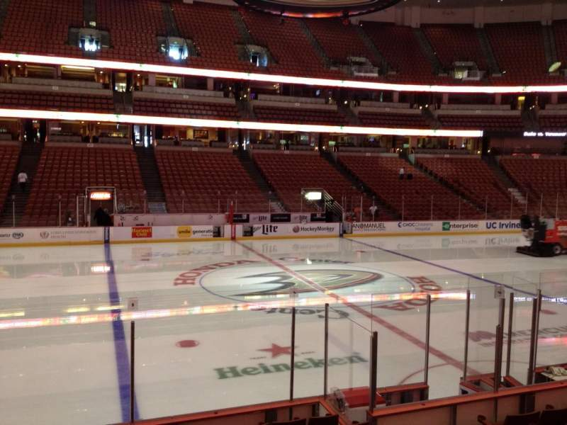 Seating view for Honda Center Section 223 Row K Seat 7