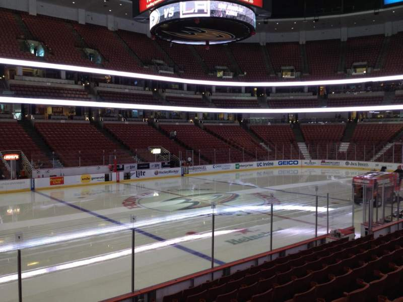 Seating view for Honda Center Section 224 Row K Seat 7