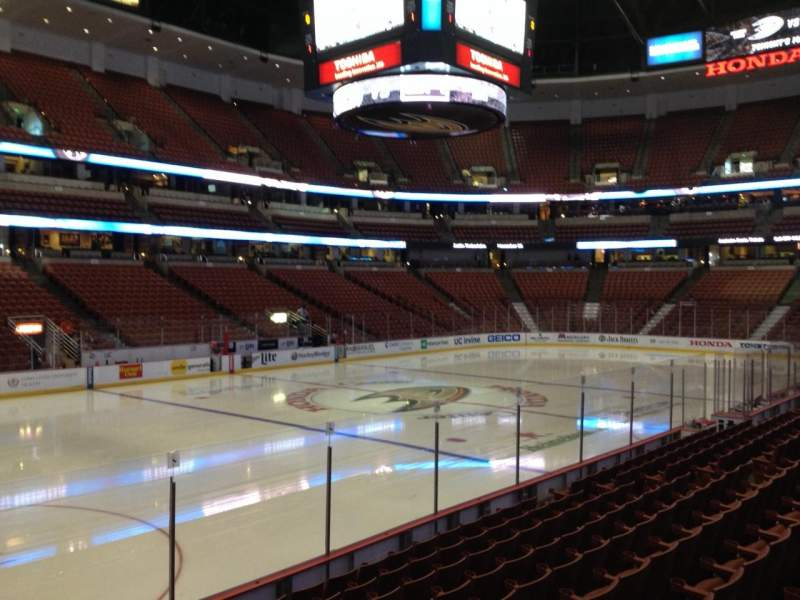 Seating view for Honda Center Section 225 Row K Seat 6