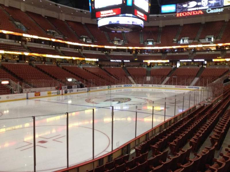 Seating view for Honda Center Section 226 Row K Seat 5