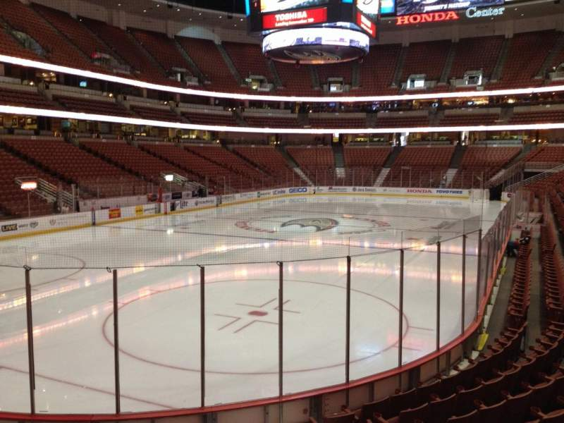 Seating view for Honda Center Section 227 Row K Seat 4