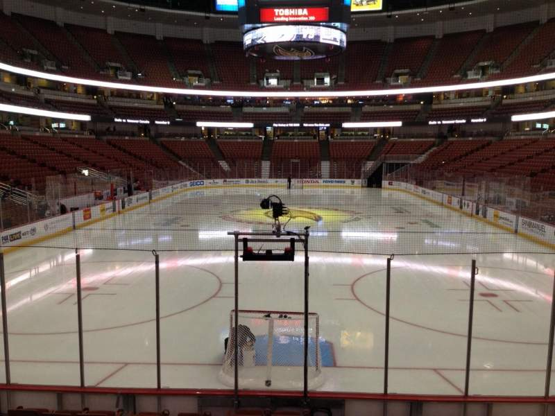 Seating view for Honda Center Section 201 Row K Seat 7