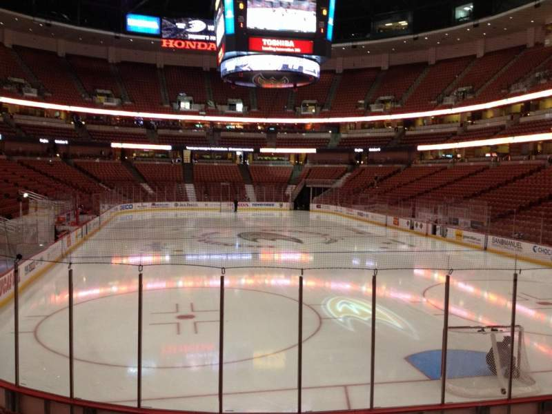 Seating view for Honda Center Section 202 Row K Seat 5