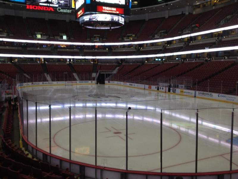 Seating view for Honda Center Section 203 Row K Seat 5