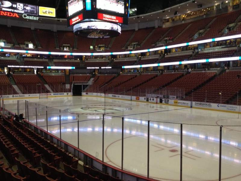Seating view for Honda Center Section 204 Row K Seat 6