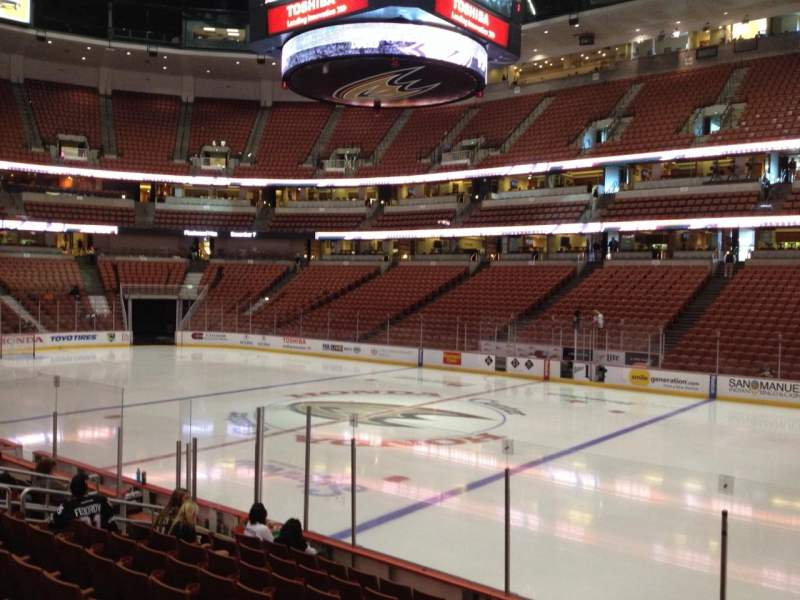 Seating view for Honda Center Section 206 Row K Seat 8
