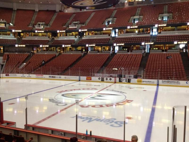 Seating view for Honda Center Section 207 Row K Seat 8