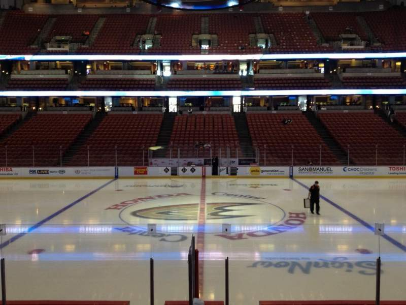 Seating view for Honda Center Section 208 Row K Seat 7