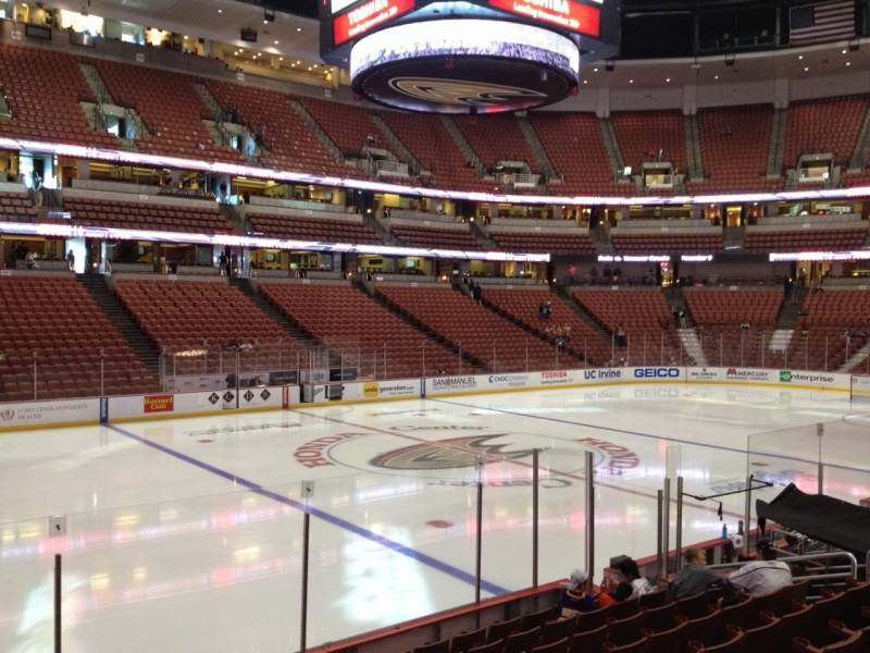 Seating view for Honda Center Section 210 Row K Seat 7
