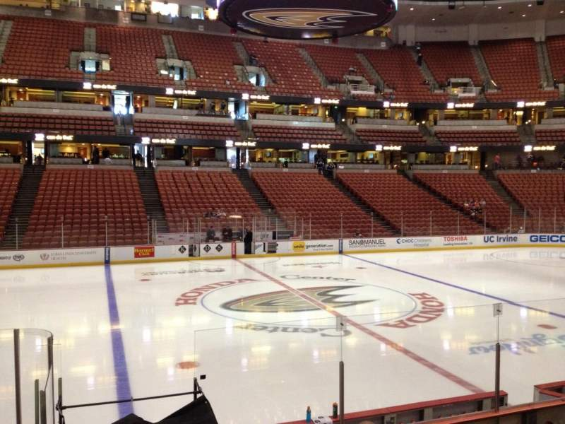 Seating view for Honda Center Section 209 Row K Seat 7