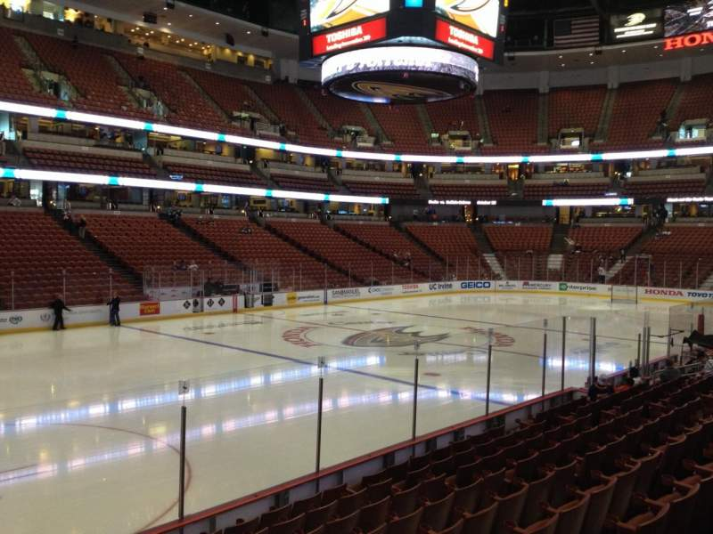 Seating view for Honda Center Section 211 Row K Seat 5