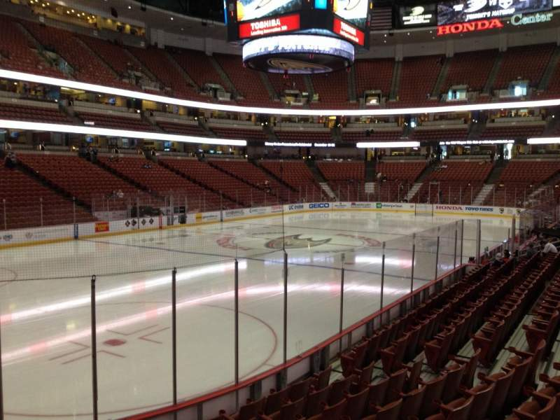 Seating view for Honda Center Section 212 Row L Seat 5