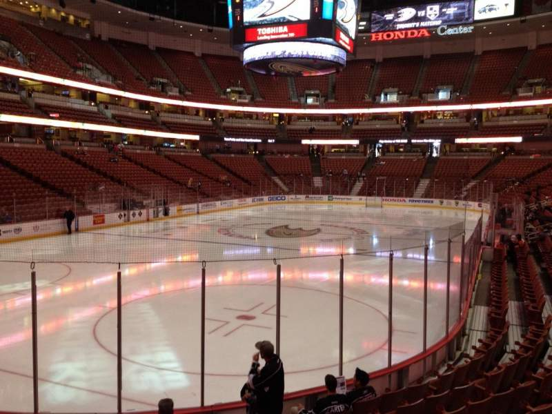 Seating view for Honda Center Section 213 Row K Seat 6