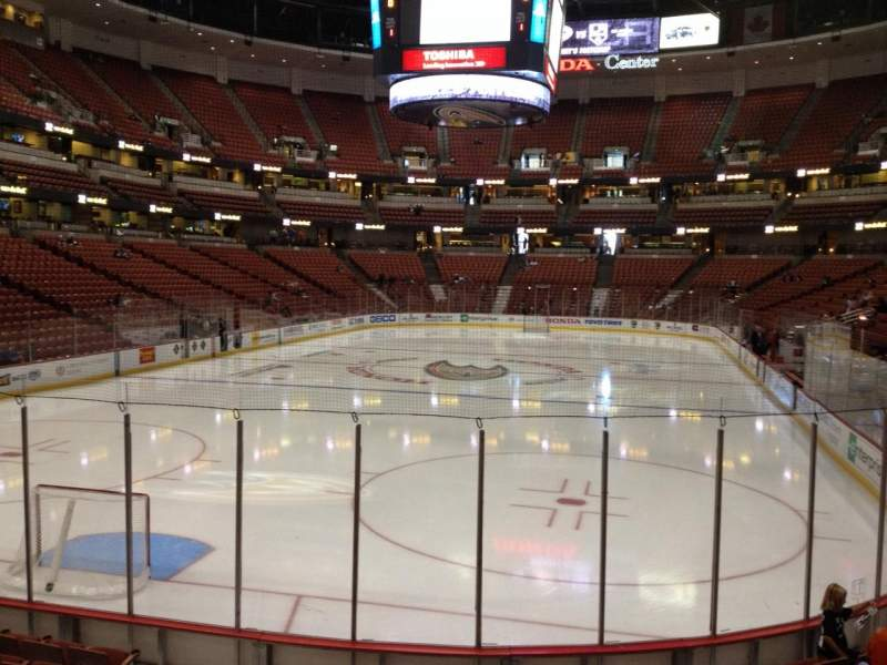 Seating view for Honda Center Section 214 Row K Seat 5