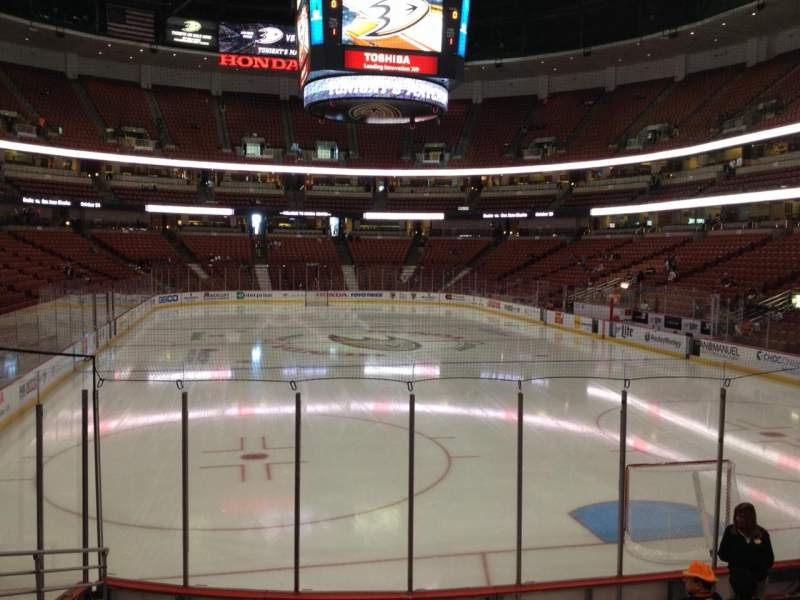 Seating view for Honda Center Section 216 Row L Seat 5