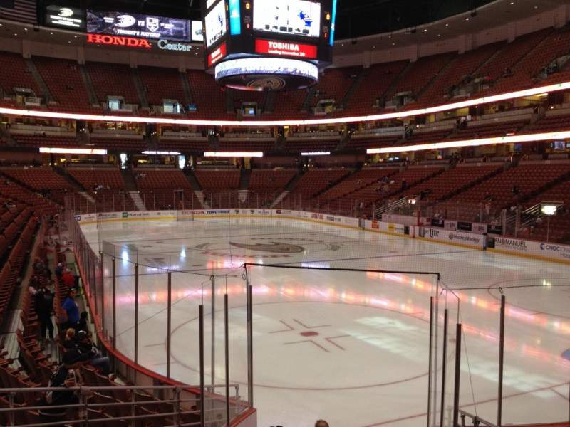 Seating view for Honda Center Section 217 Row K Seat 7