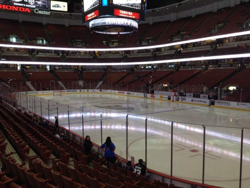 Seating view for Honda Center Section 218 Row K Seat 6