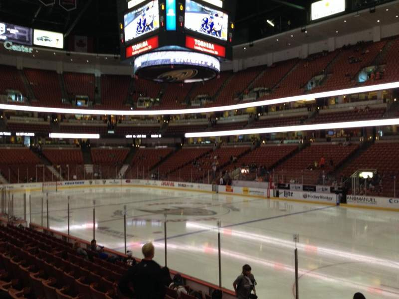 Seating view for Honda Center Section 219 Row K Seat 7