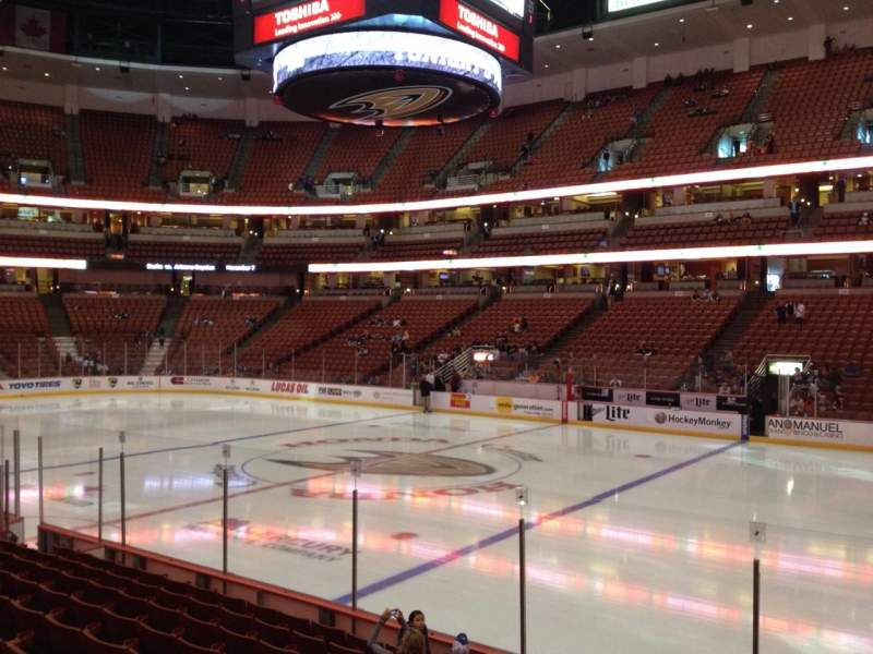 Seating view for Honda Center Section 220 Row K Seat 8