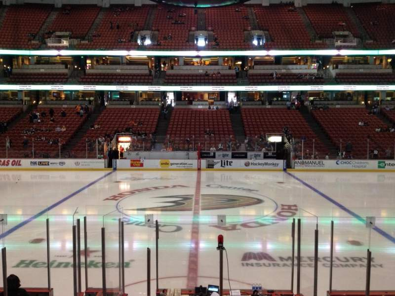 Seating view for Honda Center Section 222 Row K Seat 7