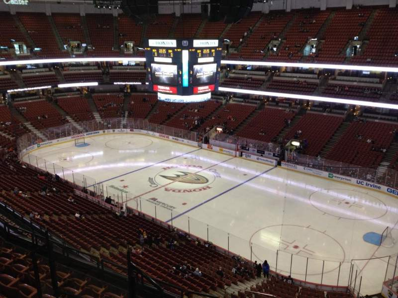 Seating view for Honda Center Section 429 Row H Seat 7