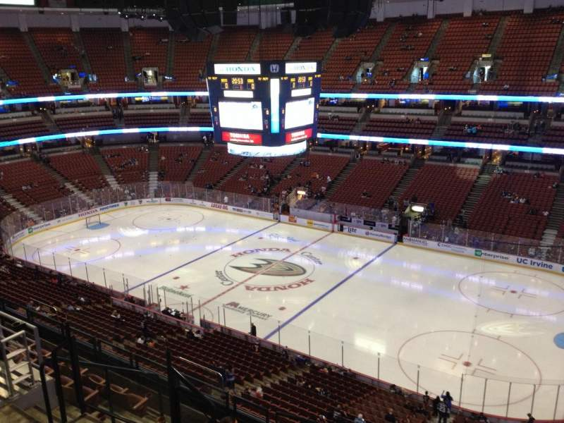 Seating view for Honda Center Section 430 Row H Seat 6