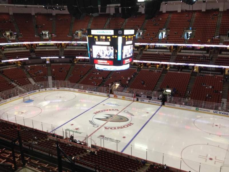 Seating view for Honda Center Section 431 Row H Seat 7