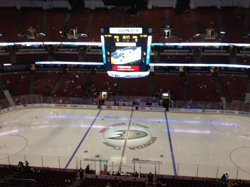 Seating view for Honda Center Section 433 Row H Seat  6