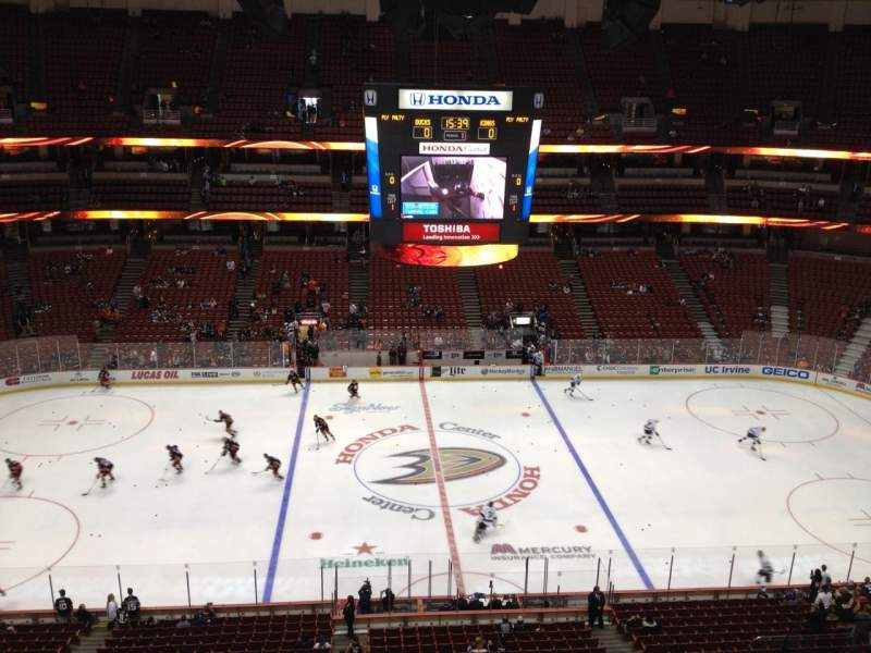 Seating view for Honda Center Section 434 Row H Seat 4