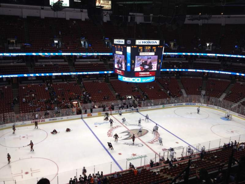 Seating view for Honda Center Section 436 Row H Seat 7