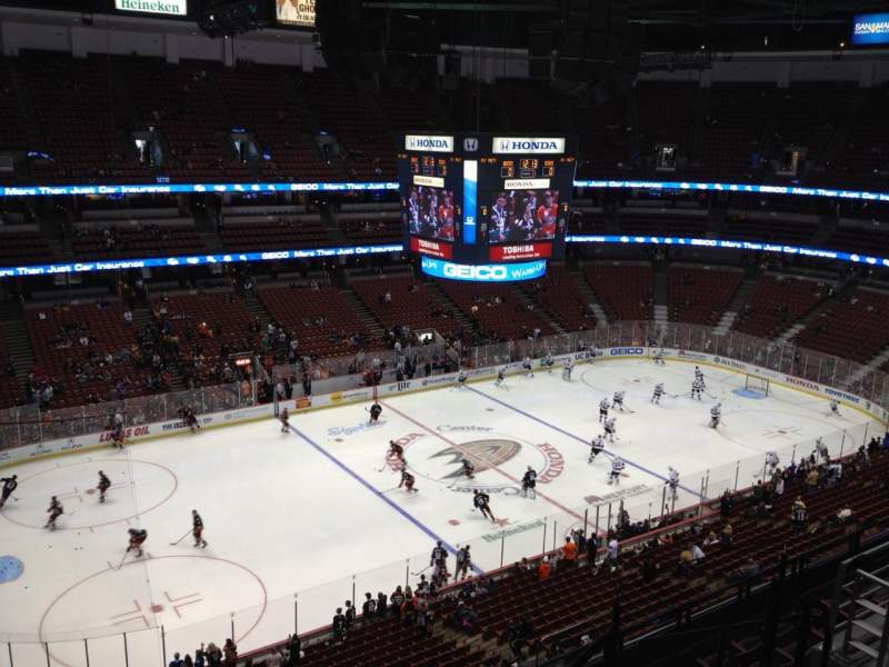 Seating view for Honda Center Section 437 Row H Seat 6