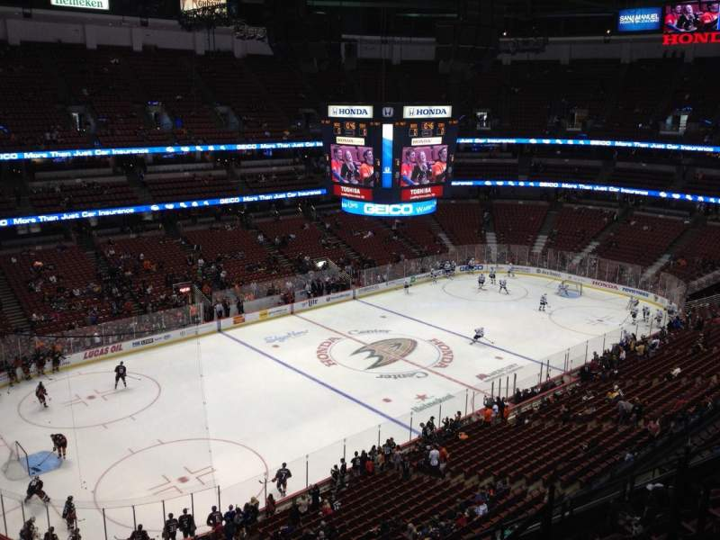 Seating view for Honda Center Section 438 Row H Seat 6