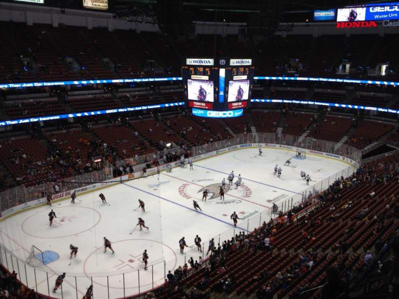 Seating view for Honda Center Section 439 Row H Seat 7