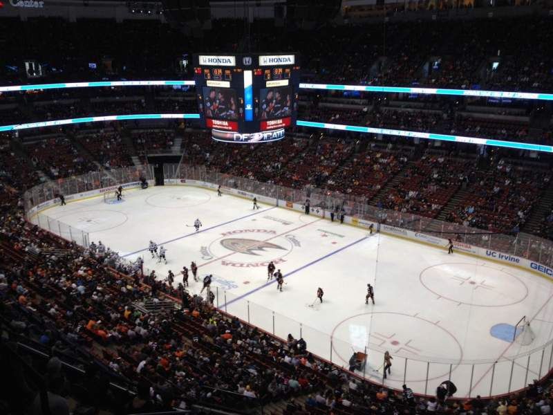 Seating view for Honda Center Section 407 Row H Seat 4