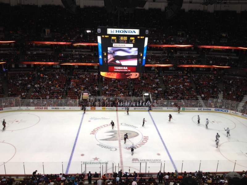 Seating view for Honda Center Section 434 Row H Seat 1
