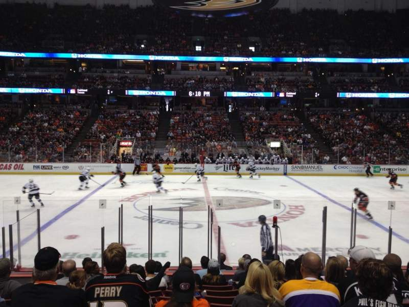 Seating view for Honda Center Section 222