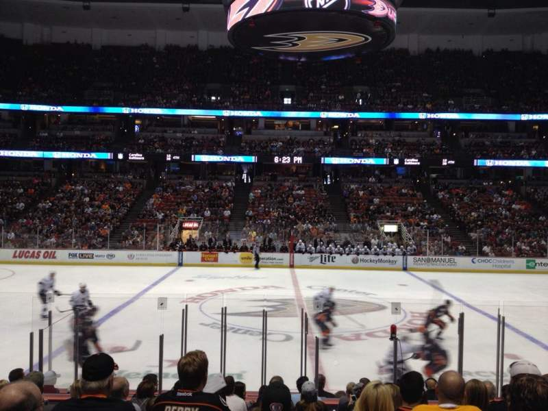 Seating view for Honda Center Section 222 Row M Seat 10