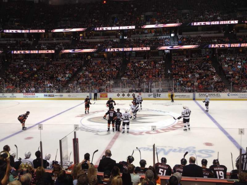 Seating view for Honda Center Section 208 Row L Seat 1