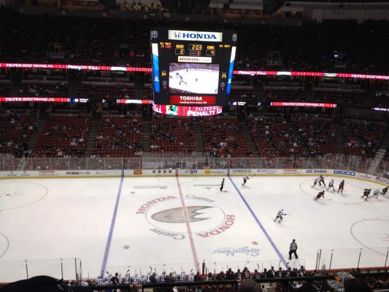 Seating view for Honda Center Section 412 Row E Seat 5