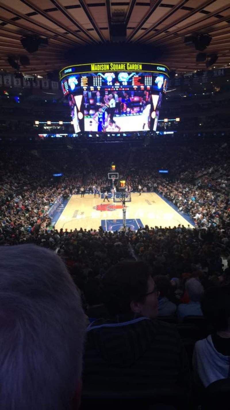 Seating view for Madison Square Garden Section 112 Row 22 Seat 12